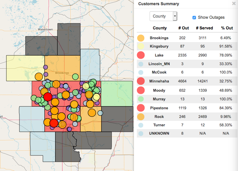 sioux valley energy power outage map Power Outage Update Pipestone County Star